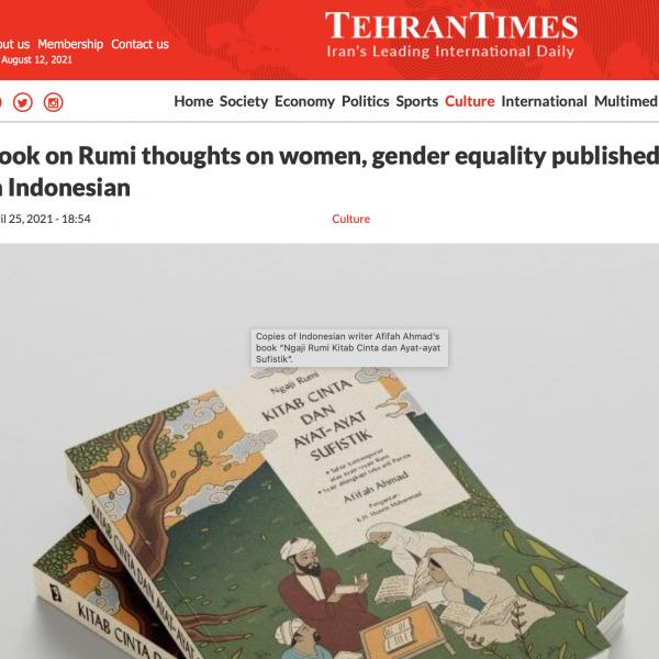 Review Ngaji Rumi di Koran Tehran Times
